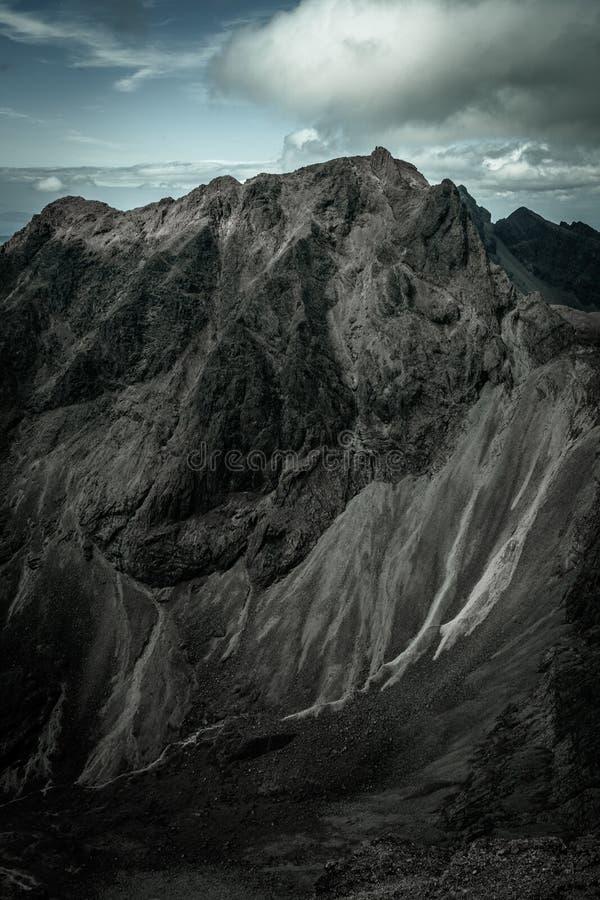Sgurr Dearg不能进入的石峰 图库摄影