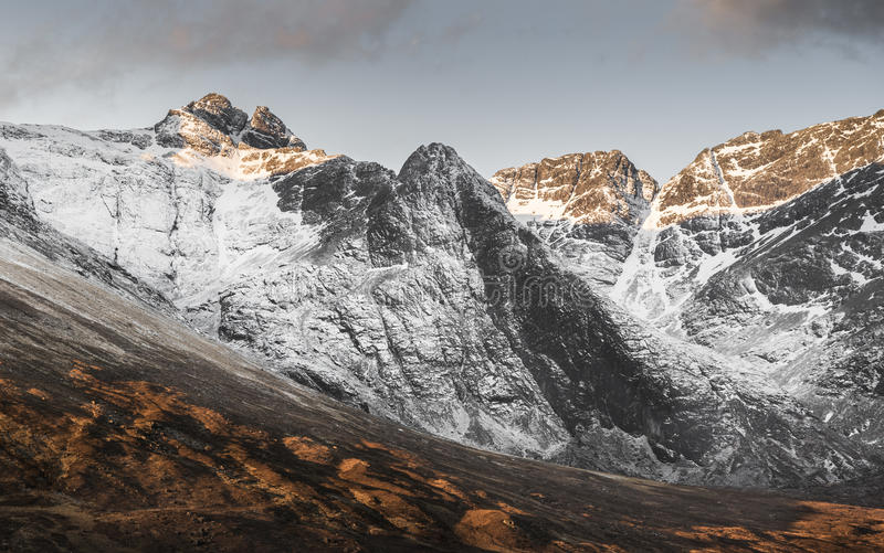 Sgurr an Fheadhain in the Cuillins on the Isle of Skye. royalty free stock photos