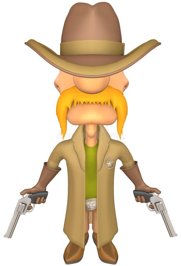 shérif illustration stock