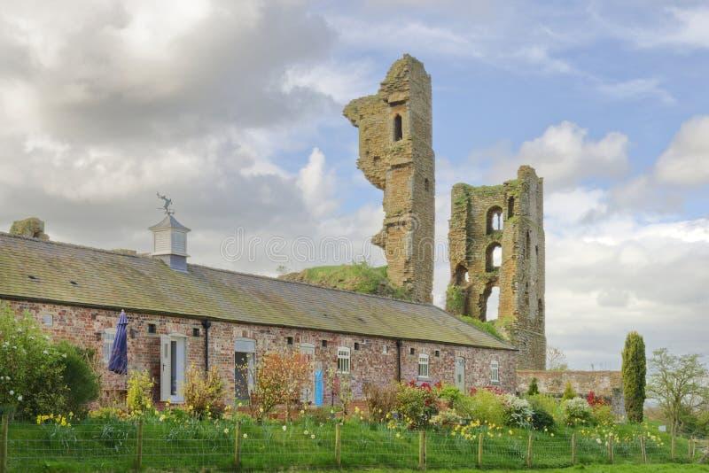 Shérif Hutton Castle, Yorkshire du nord, Angleterre photographie stock libre de droits