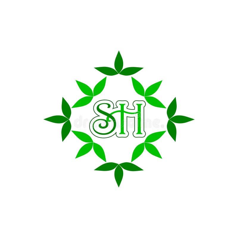 SH Initial Letter Design Logo vector illustration