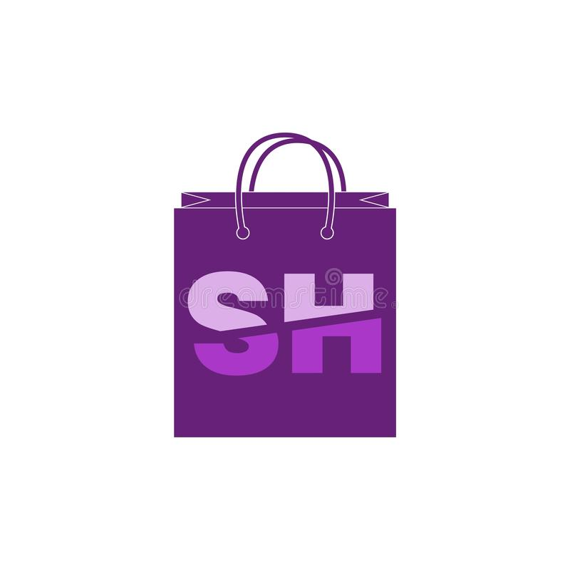 SH Letter Logo Template royalty free stock images