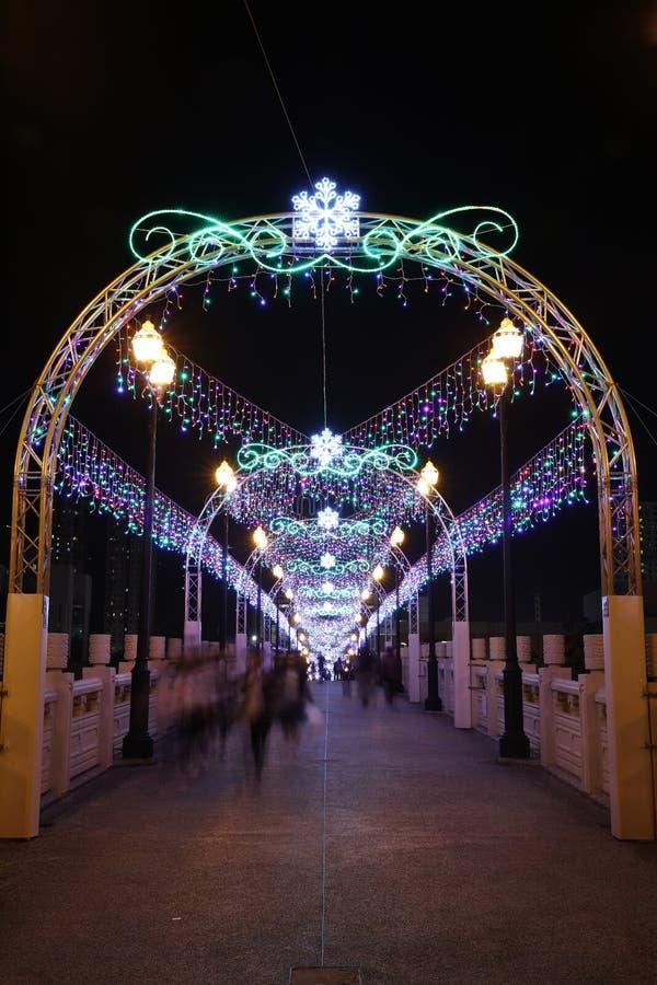 Sha Blaszany Świąteczny oświetlenie 2016 obraz stock