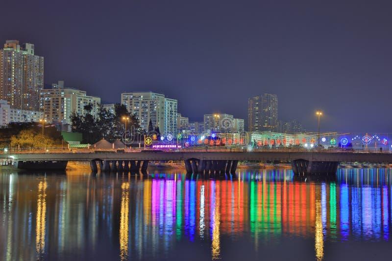 Sha Tin Festive Lighting HK fotografia de stock