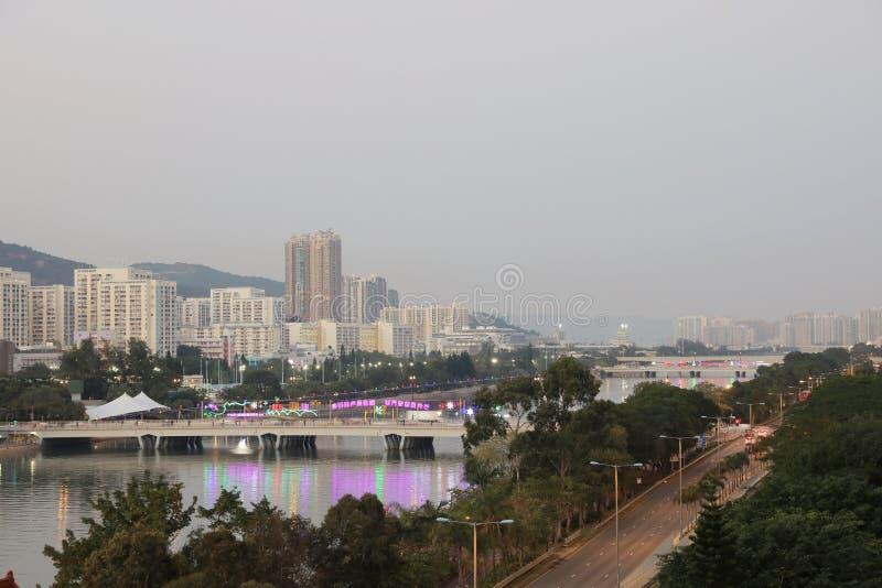 Sha Tin, Hong Kong. The Sha Tin at Hong Kong winter stock image