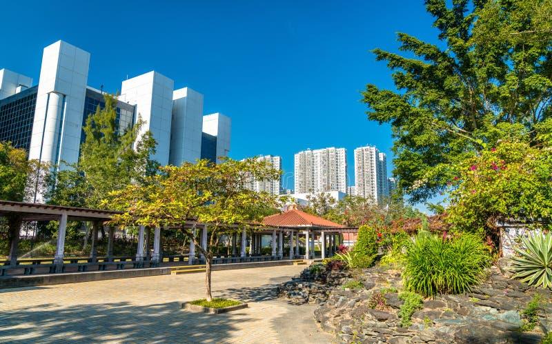 Sha Tin Park i Hong Kong, Kina arkivbilder