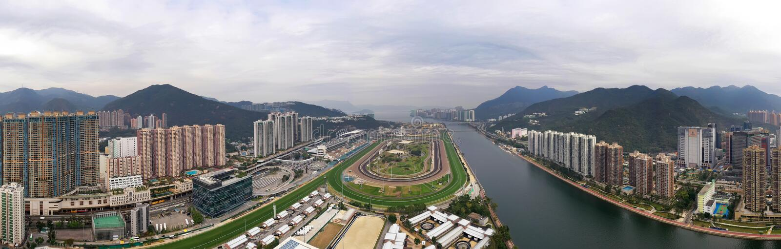 Sha Tin Racecourse Panorama foto de stock