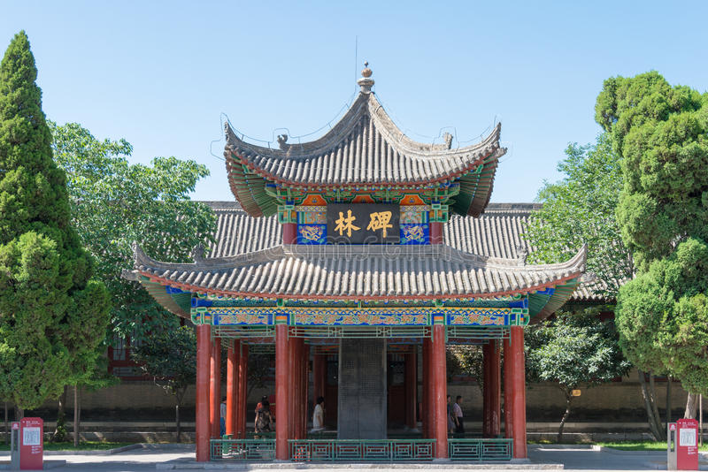 SHAANXI, CHINA - 4. Juni 2015: Stele-Wald (Museum Xi'ans Beilin) lizenzfreie stockfotos