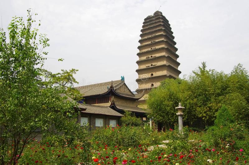 Shaanxi xi 'an small wild goose pagoda. The small wild goose pagoda is a historical sites in xian, China's famous tourist resort royalty free stock image