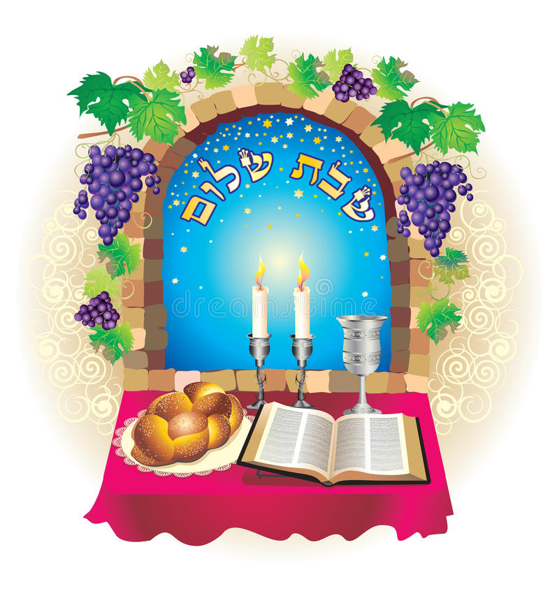 Shabat shalom stock illustratie