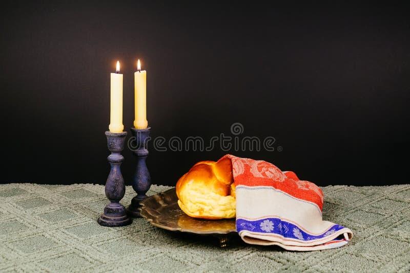 Shabbat Shalom - ritual judío tradicional del Sabat fotografía de archivo