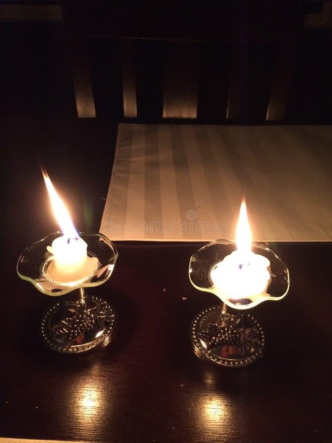 Shabbath świeczki obrazy stock