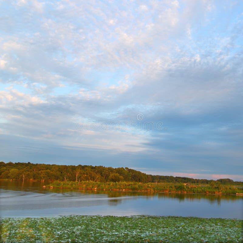 Shabbona See-Landschaft Illinois lizenzfreie stockfotografie
