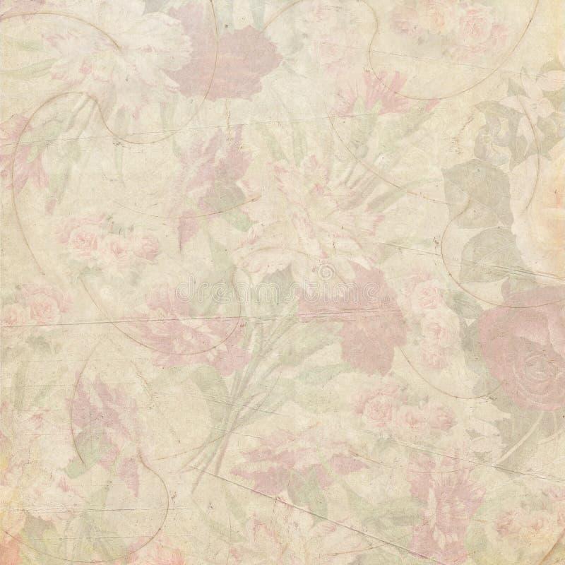 Shabby εκλεκτής ποιότητας υπόβαθρο λουλουδιών στοκ φωτογραφία