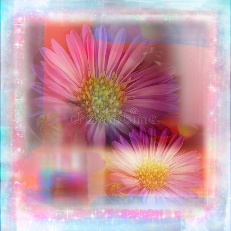 shabby μαλακό watercolor λευκώματος αποκομμάτων σελίδων κήπων λουλουδιών στοκ φωτογραφία