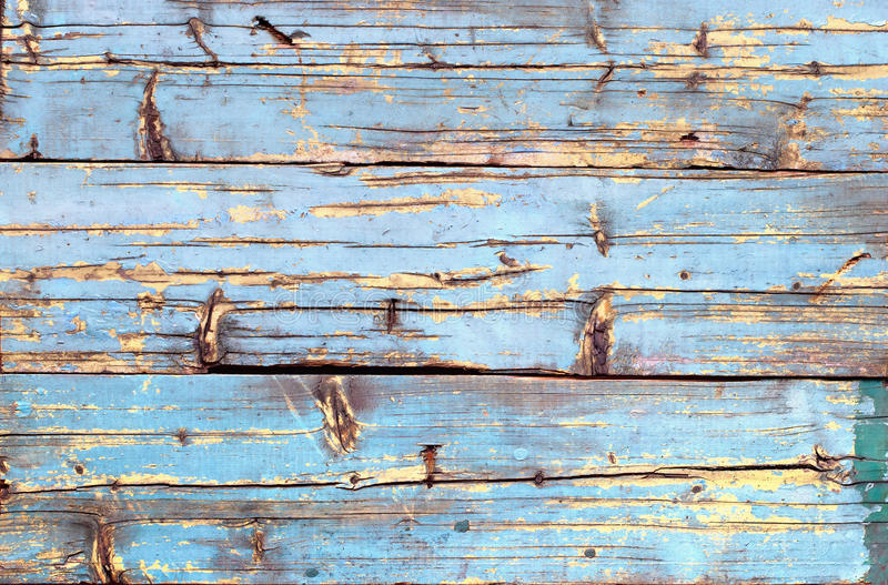 Shabby μπλε κίτρινο ραγισμένο σανίδα χρώμα ξύλινο στοκ εικόνες με δικαίωμα ελεύθερης χρήσης