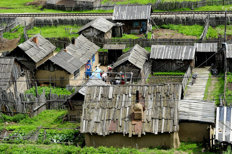 Shabby σπίτια στοκ εικόνες με δικαίωμα ελεύθερης χρήσης