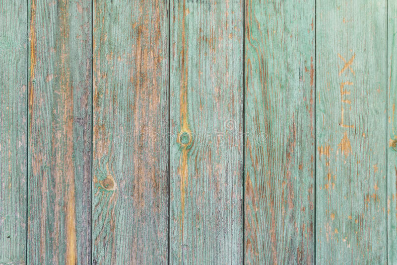 Shabby aquamarine colored wood wall. Background royalty free stock images