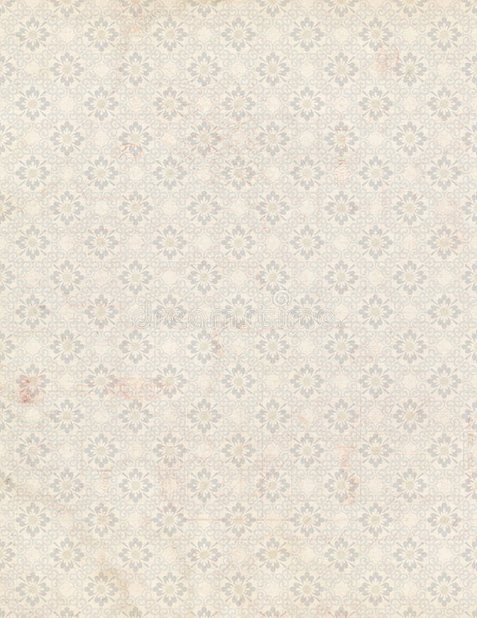 Shabby Chic antique floral wallpaper background. Shabby Chic antique floral wallpaper, repeating pattern in grey stock photo