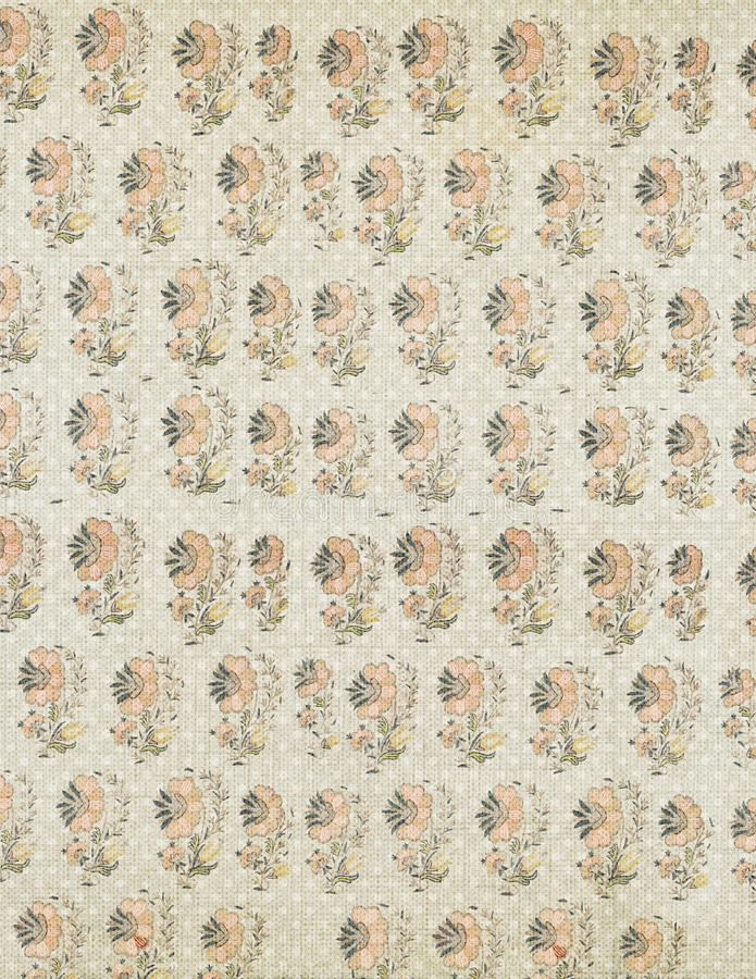 Shabby Chic antique floral wallpaper background. Soft pastel colors stock photography