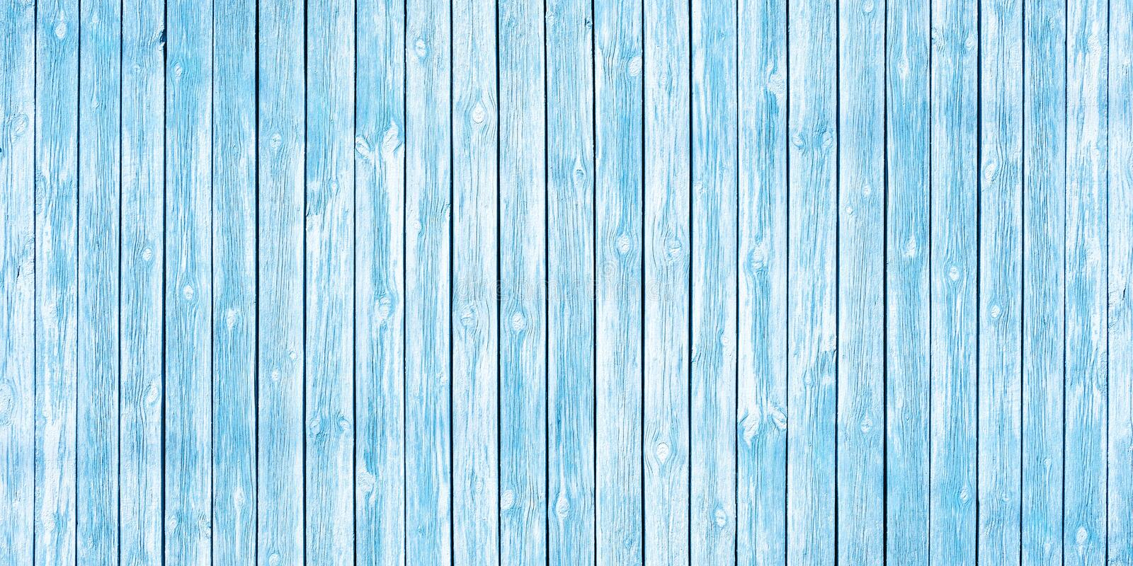Shabby chic background of old wooden planks painted in soft blue royalty free stock photos