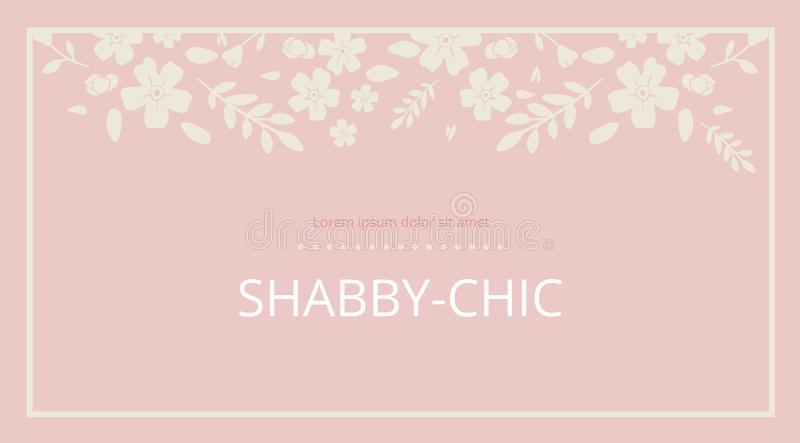 Shabby chic. Elegant vintage background peas and frame flowers. For a wedding or a holiday with space for text . vector vector illustration