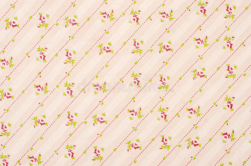 Download Shabby Chic Floral Pattern On Pink Fabric Stock Illustration
