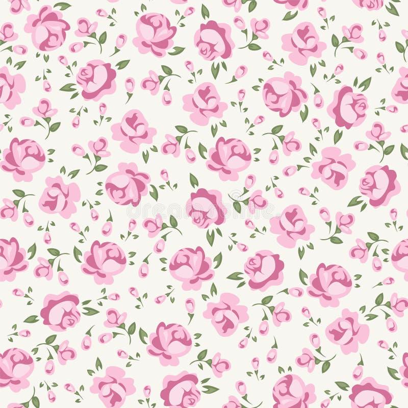 Shabby chic rose royalty free illustration