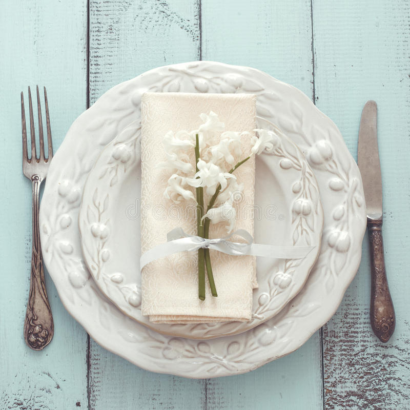 Download Shabby Chic Table Setting Stock Photo Image Of Empty