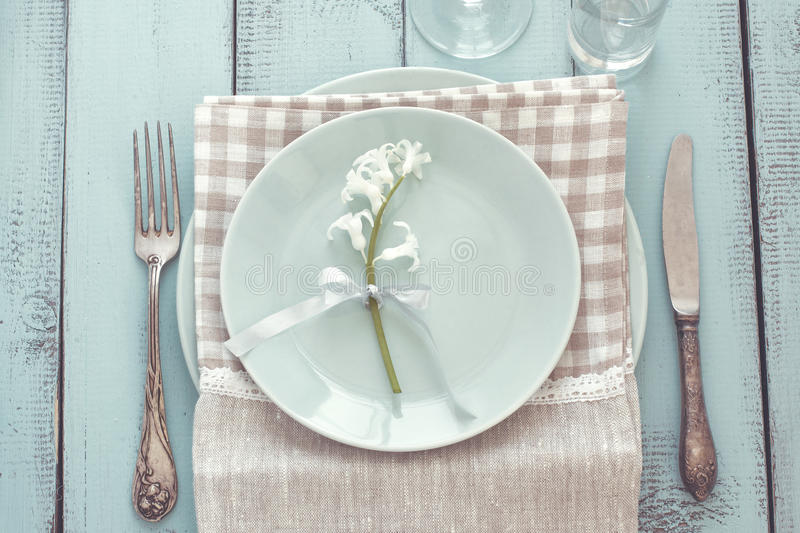 Download Shabby Chic Table Setting Stock Image Of Empty