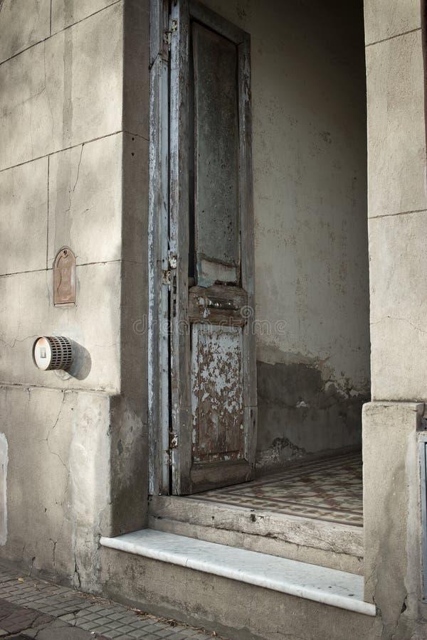 Shabby door stock images