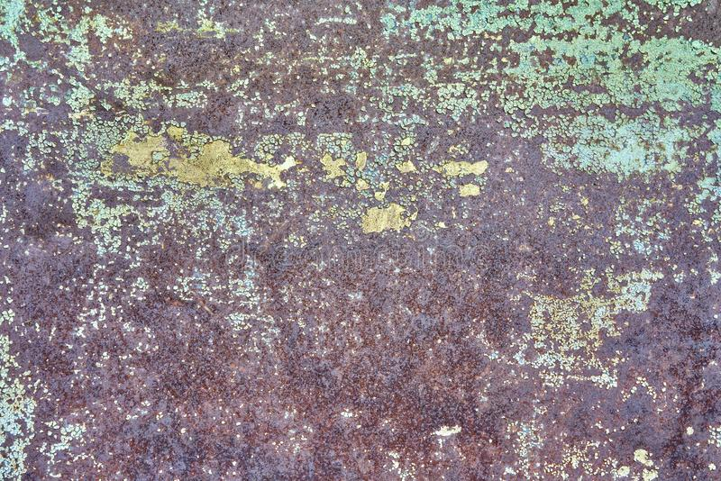 Shabby old sheet iron, background stock photos