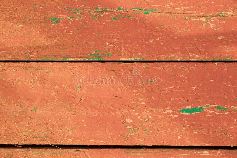 Shabby painted wood texture. colored wooden background with peeling paint stock photography