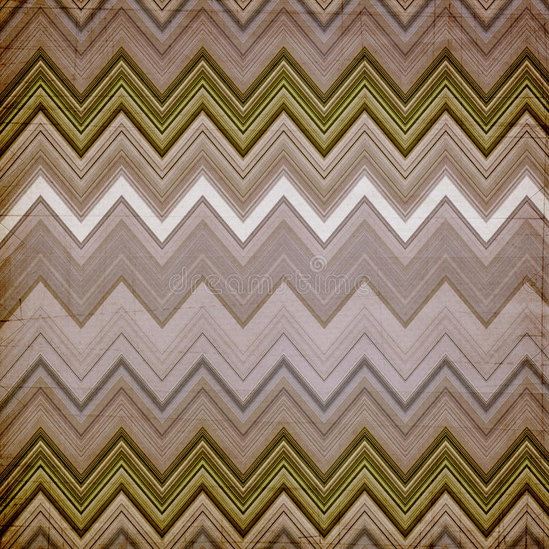 Shabby paper background. Shabby brown paper background made of zig zag stripes stock photo