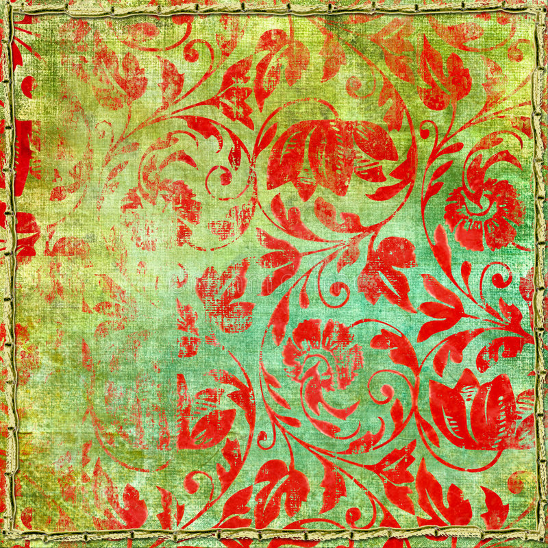 Download Shabby red patterns stock illustration. Image of design - 6270805