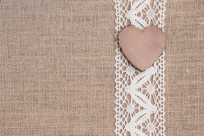 Free Burlap And Lace Background