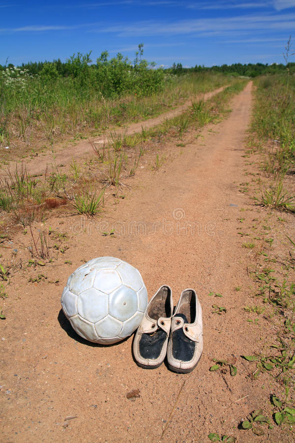 Download Shabby shoe stock photo. Image of away, outdoors, field - 25564672