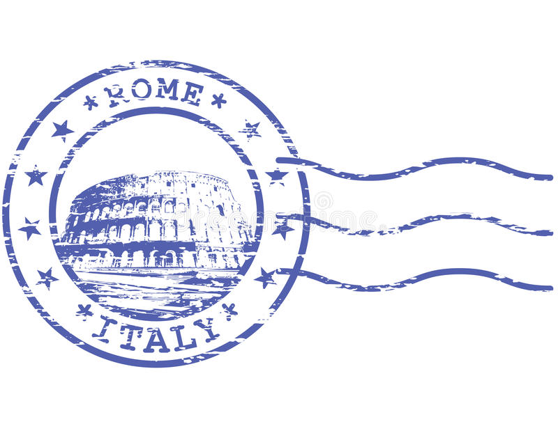 Shabby stamp with Colosseum royalty free illustration