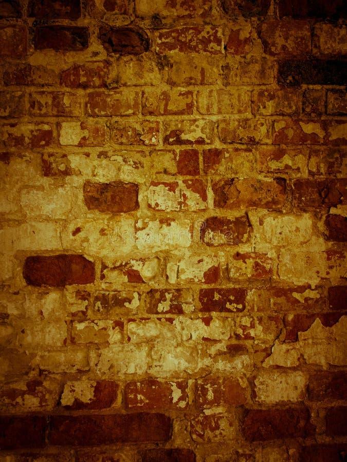 Shabby surface of ancient masonry of old brick wall. stock photos