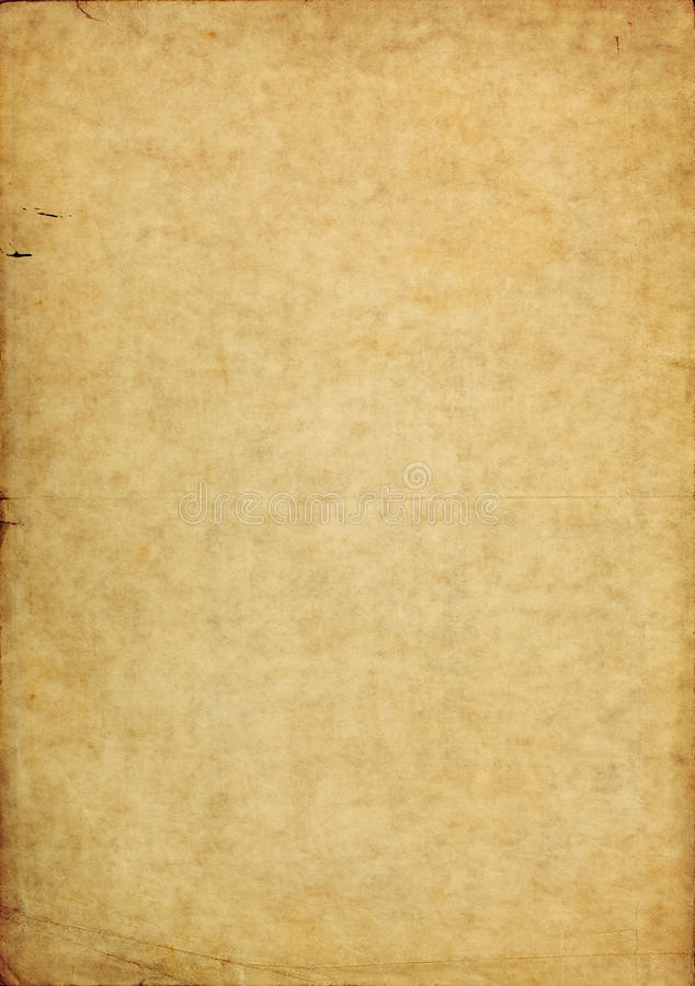 Shabby torn aged paper background. Shabby aged paper background with messy texture and dark torn borders royalty free stock photo