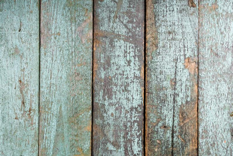 Shabby turquoise old painted wood texture stock photos