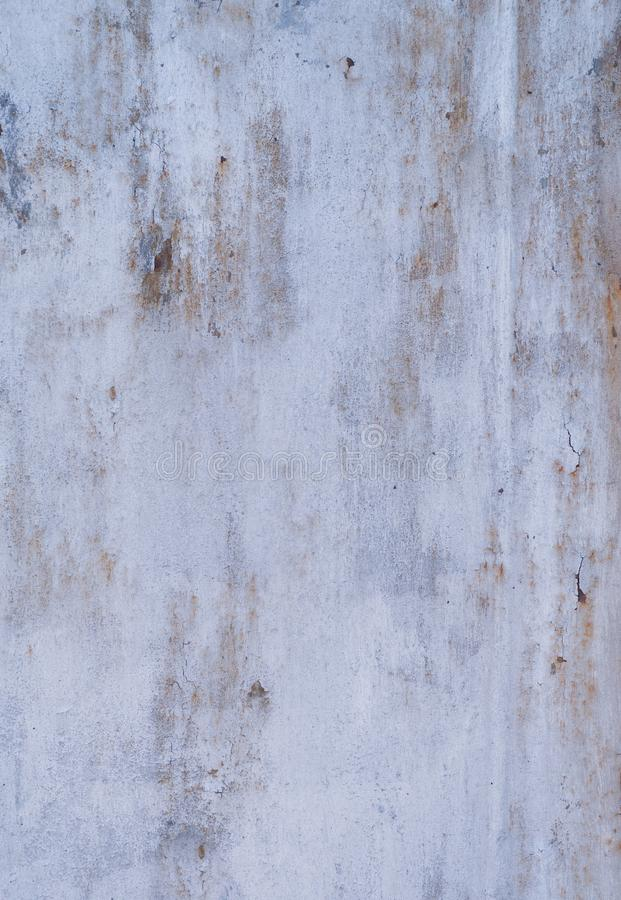 Shabby white painted metal texture with corrosion stock photo