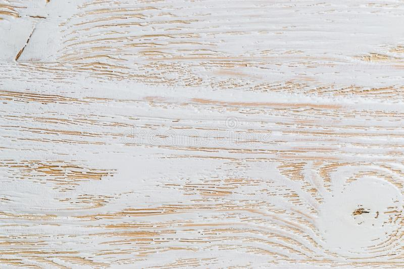 Shabby white painted wood texture close-up as background. royalty free stock photos