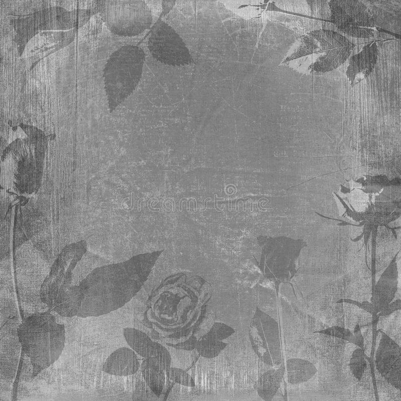 Shabby wooden roses frame texture royalty free stock images