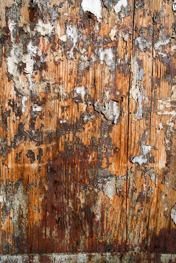 Shabby wooden surface with pieces of paper. Dirty shabby wooden surface with pieces of paper, texture, natural, pattern, tree, background, rough, grunge, old stock photos