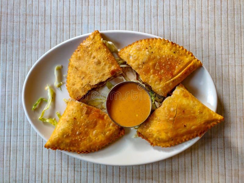 Shafaly. Tibetan Food. Shabhaley or Shafali or Sefali or Shaphaley. Tibetan food royalty free stock photography