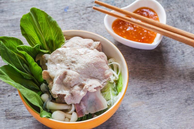 Shabu Shabu или Sukiyaki, японская еда стоковые изображения rf