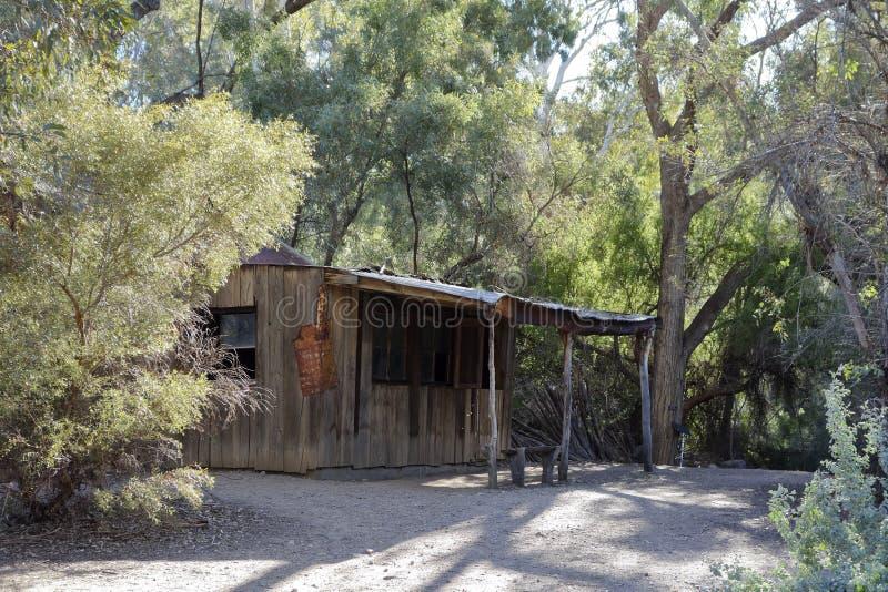 Shack abandonné dans les bois photographie stock libre de droits