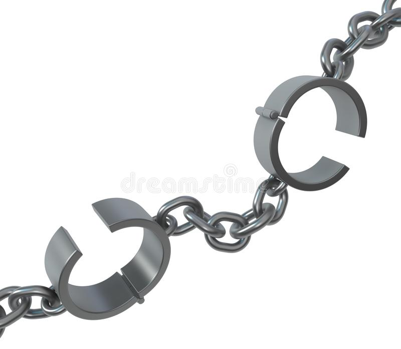 Shackles Metal Chain Close Two stock photography