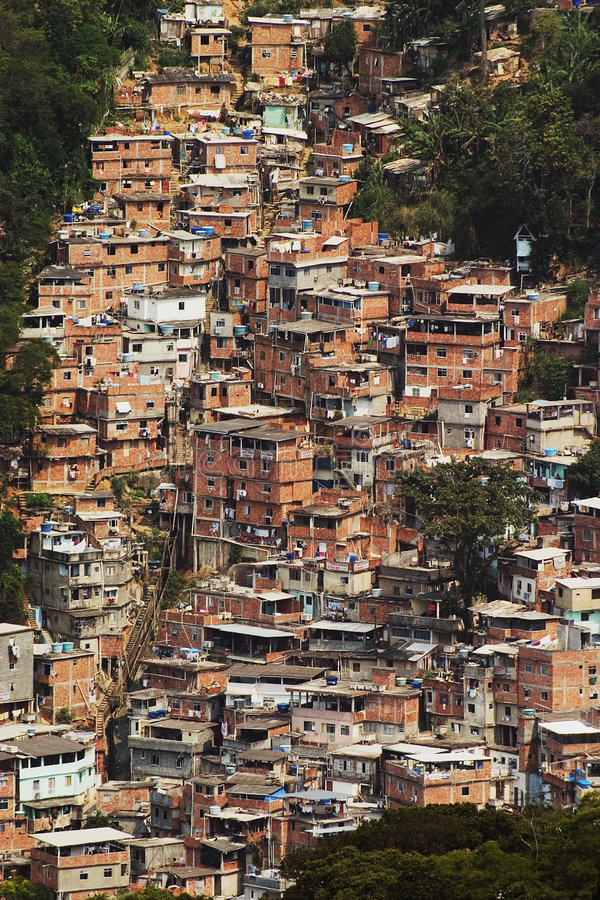 Download Shacks In The Favellas, A Poor Neighborhood In Rio De Janeiro Royalty Free Stock Photos - Image: 1130568